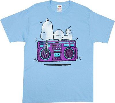 Snoopy On Boombox - Peanuts T-shirt