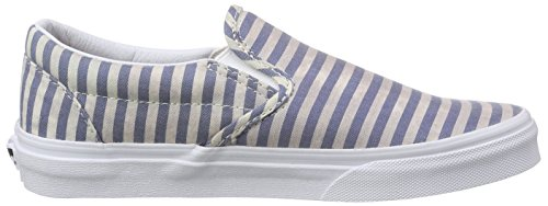 Chaussures Slip Multicolore On Vans Classic stripes navy vqUAq7x