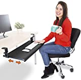Stand Steady Clamp On Keyboard Tray - Extra Large Size - Easy Clamp