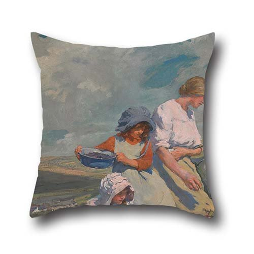 16-x-16-inch-40-by-40-cm-oil-painting-elizabeth-forbes-blackberry-gathering-pillowcase-each-side-orn