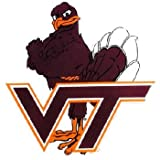 Game Day Outfitters NCAA Virginia Tech Hokies Car Magnet Hokie (Large, 2 Pack)