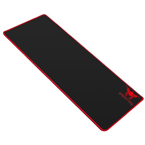 41UbdfFUScL - Combaterwing Extended Gaming Mouse Pad Anti-slip Rubber Base 2mm Thick 27.6 x 11.8 x 0.08 inches