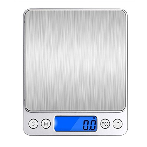 wiwanshop Honana HN-MS1 2000g 0.1g Mini Multi-unit Conversion Digital Electronic Kitchen Scale Pocket (0.1g Tube)
