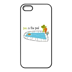 iPhone 4 4s Cell Phone Case Black Pea in the Pool SLI_593834