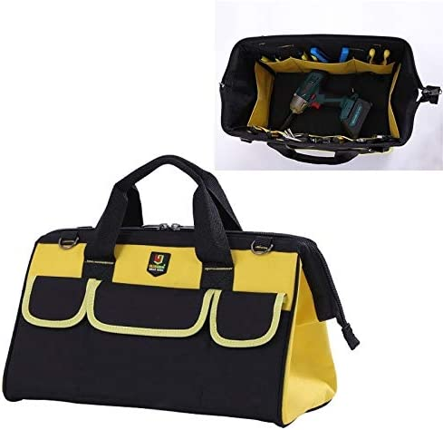 HZG 多機能オックスフォード布電気技師ベルトポーチメンテナンスツールハンドバッグショルダーバッグ便利なハードウェアツールバッグ、サイズ:19インチ(ブルー) 職人スペシャルパッケージ (Color : Yellow)