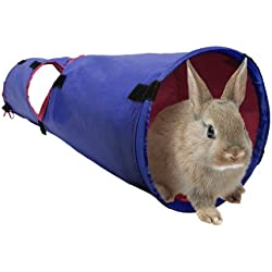 Living World Pet Tunnel, Blue/Red