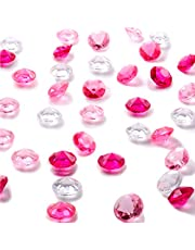 10000 Clear Wedding Table Scatter Confetti Crystals Acrylic Diamonds Rhinestones for Table Centerpiece Decorations Wedding Decorations Bridal Shower Decorations Vase Beads (Clear Pink Rose, 4.5 MM)