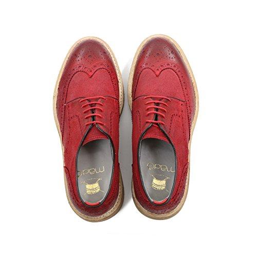 Ci Pelle Stringate All'inglese In Rosso Colore Derby Scarpe eEWYDIH29b