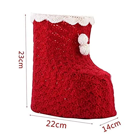 Christmas Shoes Diy.Amazon Com Diy Handmade Wool Knit Christmas Shoes Shape