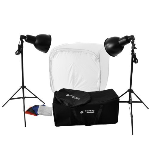 CowboyStudio Photography 800 Watt, 30-Inch Tabletop Tent Continuous Lighting Kit for Photo Studio and Product Photography by CowboyStudio