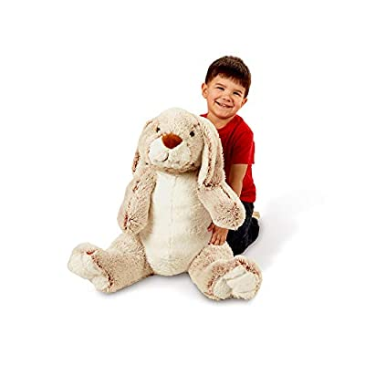 Melissa & Doug Jumbo Burrow Bunny Lop-Eared Rabbit Stuffed Plush Animal (21 Inches Tall): Toys & Games