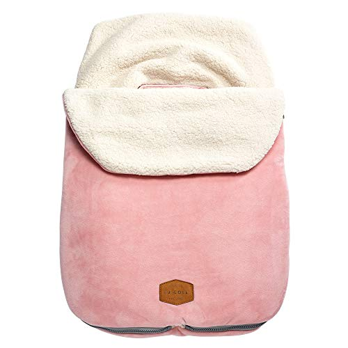 (JJ Cole Original Bundleme Canopy Style Bunting Bag, Blush)