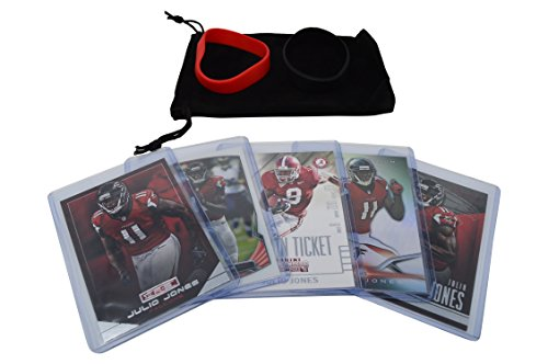 Julio Jones Football Cards Assorted (5) Bundle - Atlanta Falcons Trading Cards