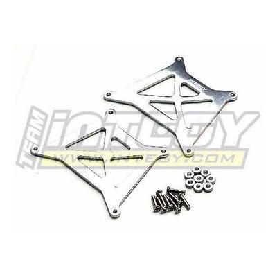 Integy RC Model Hop-ups T8101SILVER Alloy Brace (2) for HPI Wheely King
