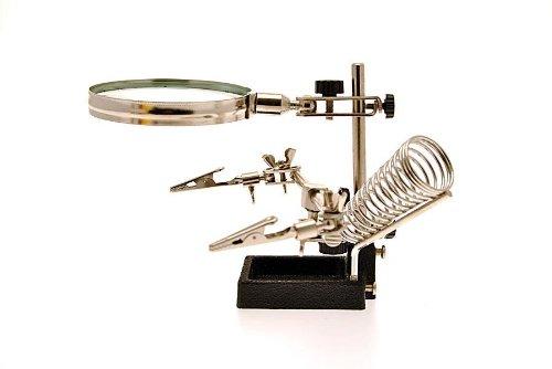 Tercera Mano prof. con soporte soldador y C/lente aumento X Soldadura elettronich: Amazon.es: Electrónica