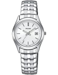 Pulsar Womens PXT585 Expansion Silver-Tone Watch
