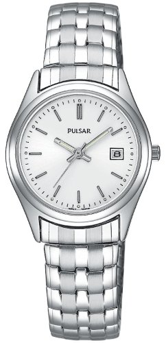 Pulsar Women's PXT585 Expansion Silver-Tone Watch