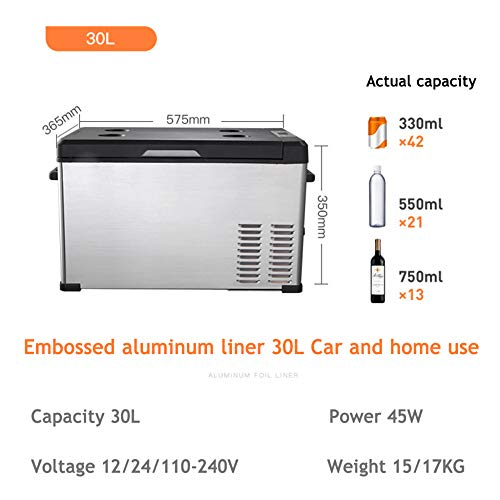 TFCFL Electric Cooler Car Refrigerator 7.5L Mini Fridge 12V Cooler Use in Car Home Warming Cooling
