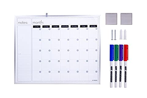 Family Wall Calendar Combo - Dry-Erase Event Planning Board 16 x 20 Inch , Five Markers and Two Magnets – by Get (Cool Calenders 2015)