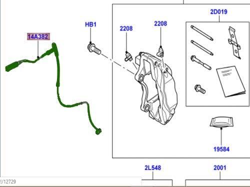 Genuine LAND ROVER FRONT BRAKE PAD SENSOR RANGE ROVER SPORT 10-13 NEW LR019401