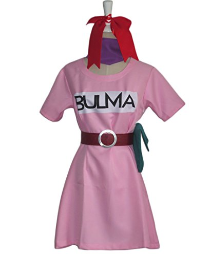 [MiDiCosplay Custom Made Dragonball Z Bulma Cosplay Costume Any Size] (Bulma Costume)