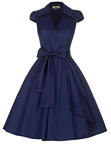 navy 50s dress - 1