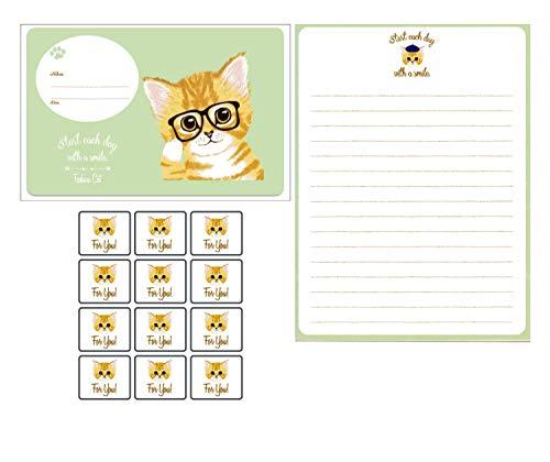 Girl Writing Letter - Cute Kawaii Cat 12 Envelope 24 Letter Writing Stationery Paper Letter Set for Girls