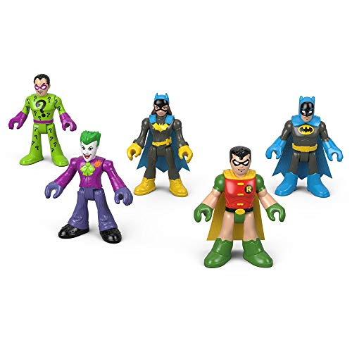 Fisher-Price Imaginext DC Heroes and Super Villains Action Figure 5-Pack (Fisher Price Little People Marvel)