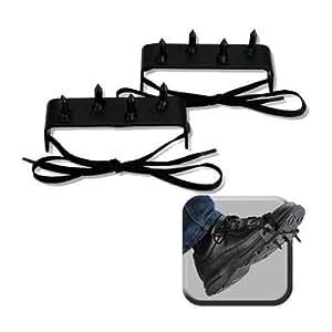 Amazon.com: 2 pcs Ninja Gear Black Steel Foot Spikes Claw ...