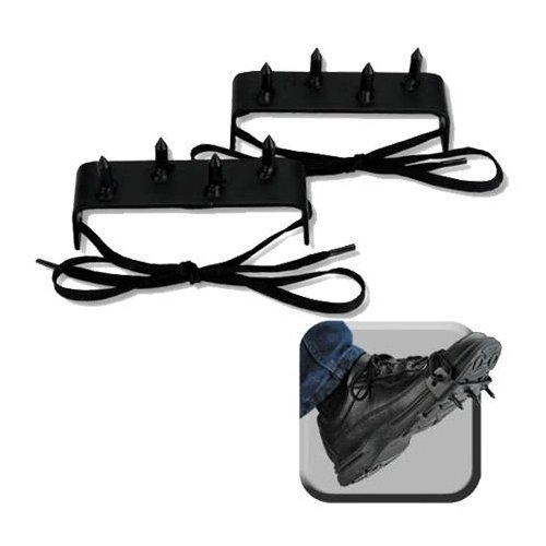 SuperKnife 2 pcs Ninja Gear Black Steel Foot Spikes Claw ()