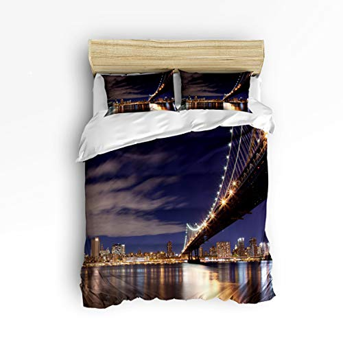 Libaoge 3pc Bedding Collection Twin Size New York