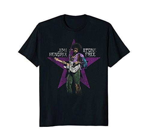 Jimi Hendrix Stone Free T-shirt - Mens Jimi Hendrix Stone Free Star XL Black