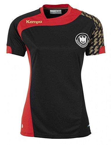 Kempa DHB Shirt Damen - schwarz/rot, Größe:L