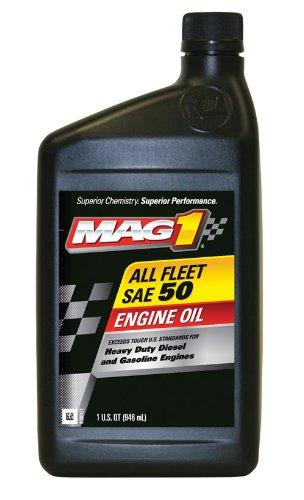 Mag 1 (63287-6PK) SAE 50 CF-SG All Fleet Engine Oil - 1 Quart Bottle, (Pack of 6)