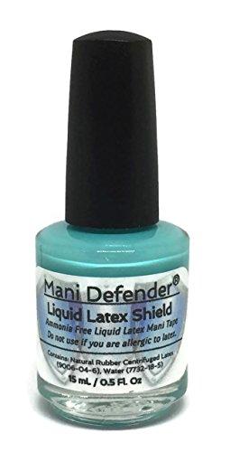 Mani Defender Liquid Latex for Nail Art   Ammonia Free Liquid Nail Tape   Easy Peel Off Cuticle Guard   Liquid Latex Barrier for Nail Art & Manicures