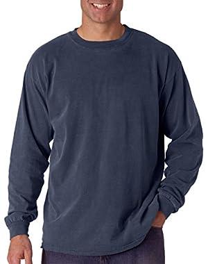 Ringspun Garment-Dyed Long-Sleeve T-Shirt (C6014)- MIDNIGHT, L