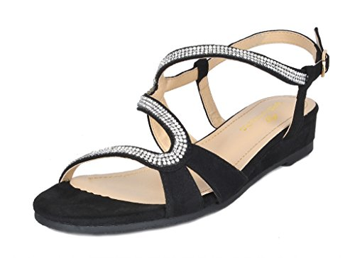 PAIRS Women's 1 black Formosa DREAM Sandal Wedge 1 UqdSnw75