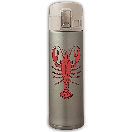 Red Lobster Insulation Vacuum Cup Bouncing Cover Stainless Steel Mug Bottle Coffee Thermos