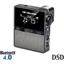 HIFI WALKER HX Sport High Resolution DAP Bluetooth FLAC WAV MP3 Player Mini Clip On Lossless Digital Audio Player with 16GB Memory Card, supports up to 256GB