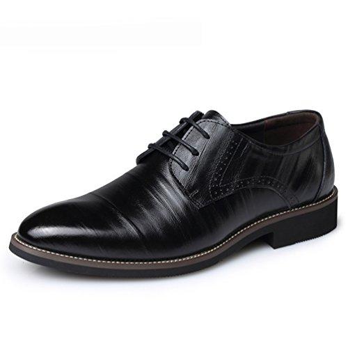 Con Cordones Zapato Negro Hombre Feidaeu w7BXq57
