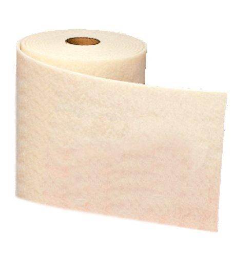 Scotch-Brite(TM) Clean and Finish Roll, Aluminum Silicate, 30' Length x 4'' Width, Super Fine Grit, White  (Pack of 3) by Scotch-Brite