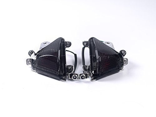 Bright2wheels Front Turn Signals for KAWASAKI 04-05 ZX-10R EURO STYLE FLUSH MOUNT-US MODEL with bulbs smoke Lens
