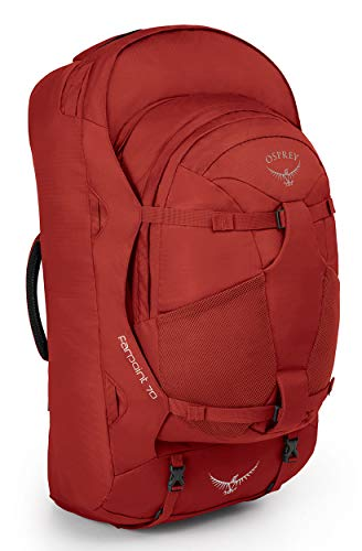Osprey Packs Farpoint 70 Men's Travel Backpack, Jasper Red, Small/Medium
