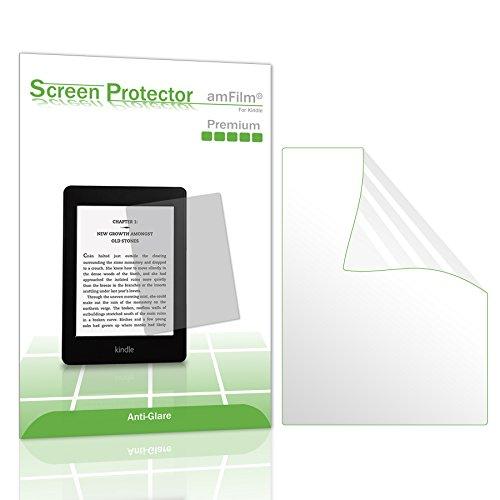 Kindle Screen Protector, amFilm Kindle Anti-Glare/Anti-Fingerprint (Matte) Premium Screen Protector for Kindle, Kindle Paperwhite, Kindle Paperwhite 3 and Kindle Touch (2-Pack)