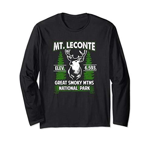 Mount Mt LeConte Buck Deer Smoky Mountains Long Sleeve T-Shirt