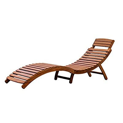 Merry Garden Curved Folding Chaise Lounger - Folds in half for easy transportation and storage Includes a fold-out headrest Contoured seat for added comfort - patio-furniture, patio-chairs, patio - 41Ubn2VBbDL. SS400  -