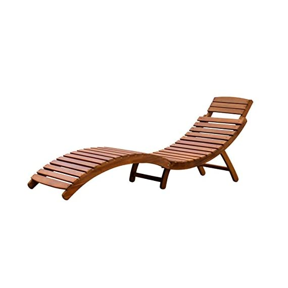 Merry Garden Curved Folding Chaise Lounger - Folds in half for easy transportation and storage Includes a fold-out headrest Contoured seat for added comfort - patio-furniture, patio-chairs, patio - 41Ubn2VBbDL. SS570  -