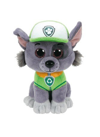 Amazon.com  TY Beanie Boos Regular Plush (ROCKY Paw Patrol)  Toys ... caa8a62513b