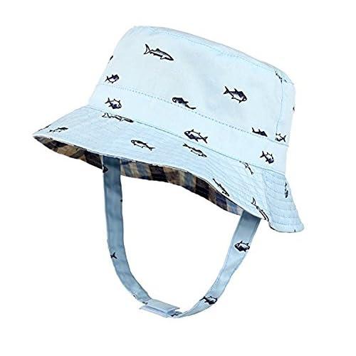 Mejor Sombrero de bebé Gorra de cubo para niños Gorra de sol plegable Doble  mandíbula ajustable fe828c787b4