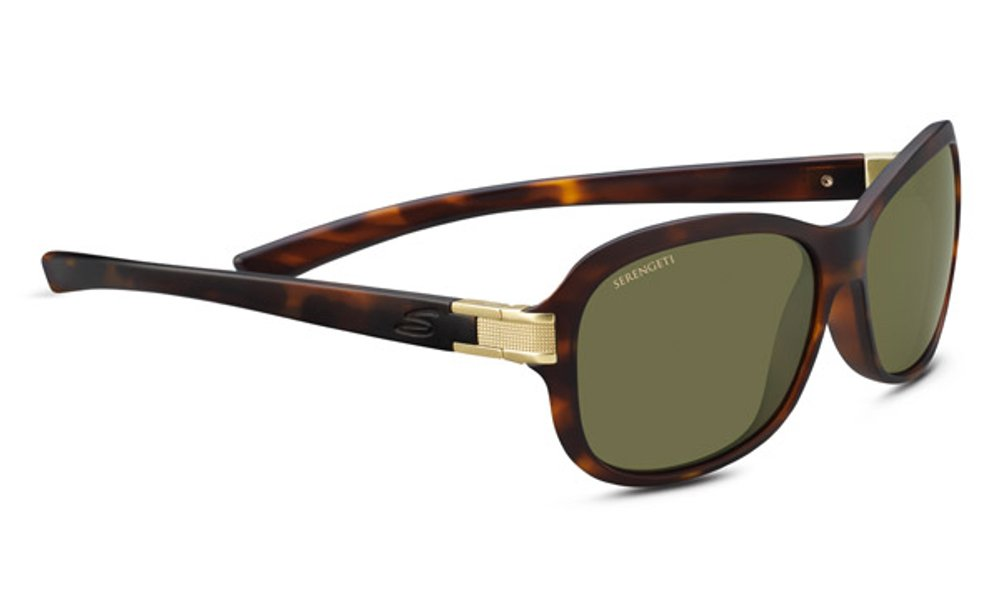 Serengeti Isola Sunglasses, Satin Tortoise Frame/Satin Brass